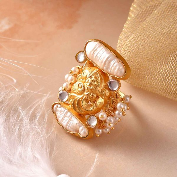Gilded Pearl Ring