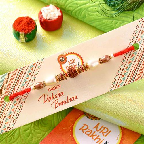 Pearl Rakhi with Sweets