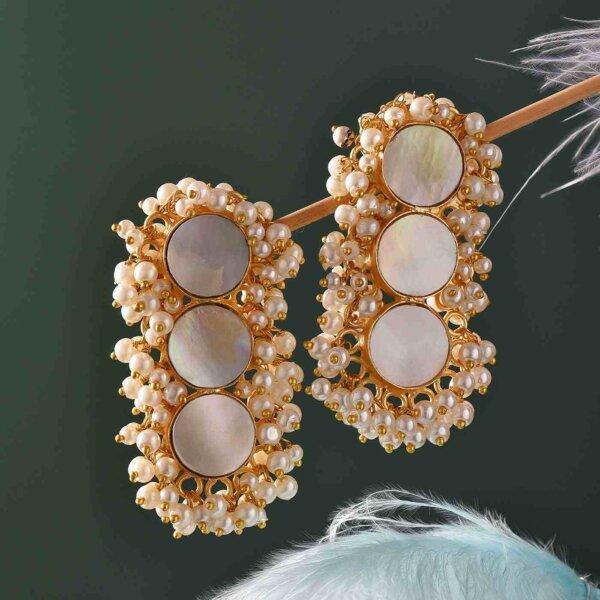 Pearl Plat Earring