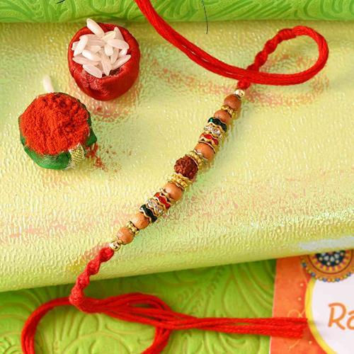 Rudraksh and Beads Rakhi