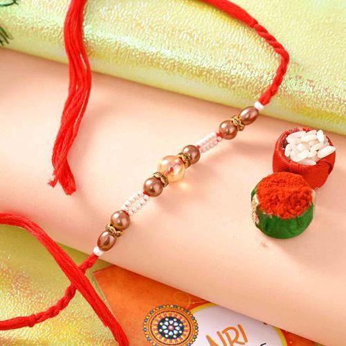 Clear bead Rakhi