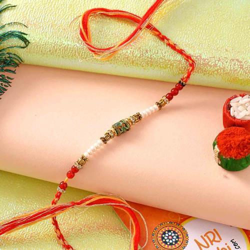 Antique Pearl Rakhi