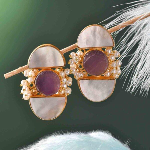 Graceful Stone Earrings
