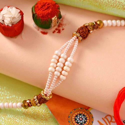 Pearl and Rudraksh Rakhi