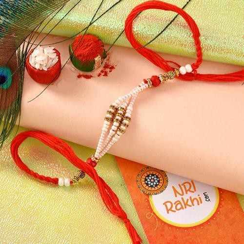 Strings of Pearl Rakhi