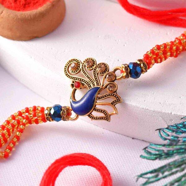 Designer Peacock Rakhi