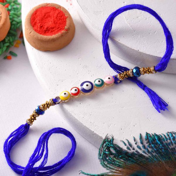 Colorful Evil-Eye Beads Rakhi