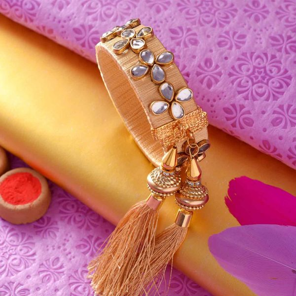 Adjustable Golden Lumba Rakhi