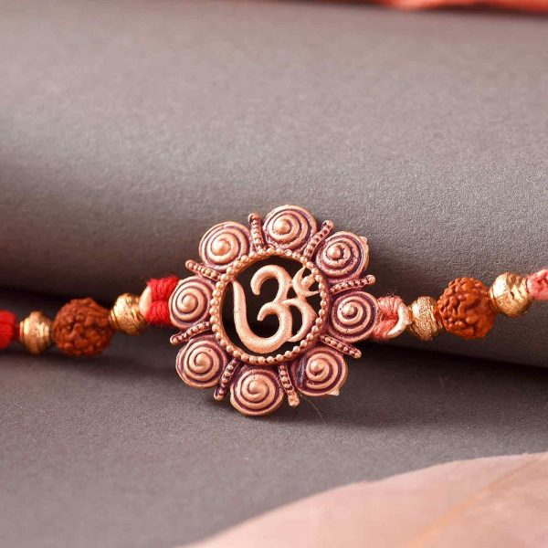 Floral Design OM Rakhi