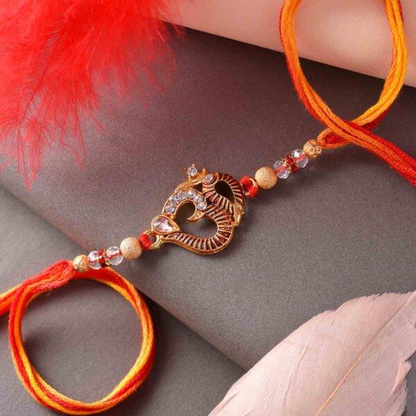 Divine OM Rakhi With Dual-Toned Thread