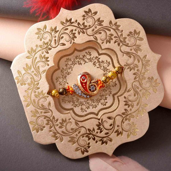 Golden & Silver Ganesha Trunk Rakhi