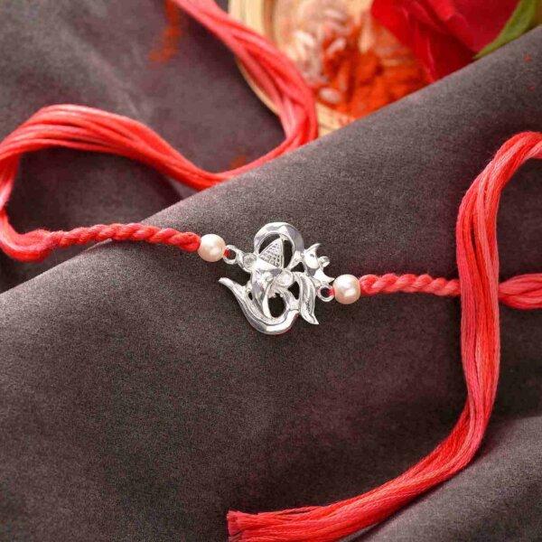 Exclusive Silver Design Rakhi