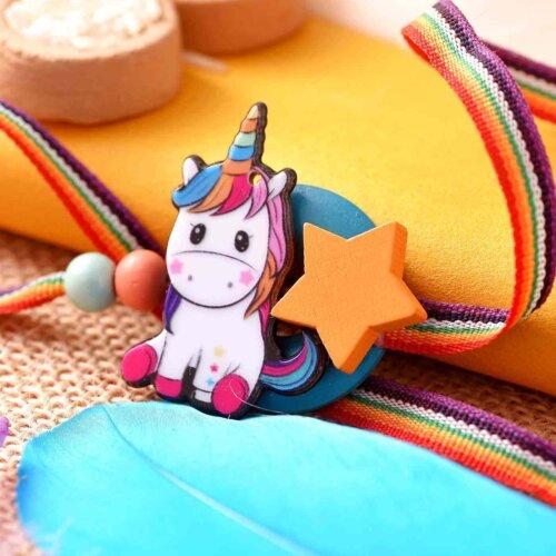 Unicorn Rakhi With A Multi-Toned Ribbon