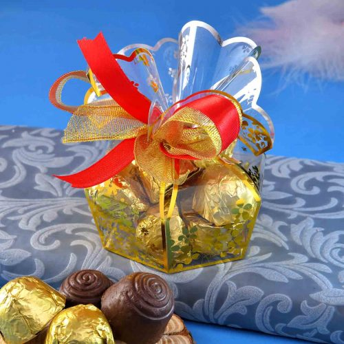 Handmade Assorted chocolate Box (125 Gms){Hazelnuts Almond Fudge, Coffe Bites, Almond Supreme, Carmel King}
