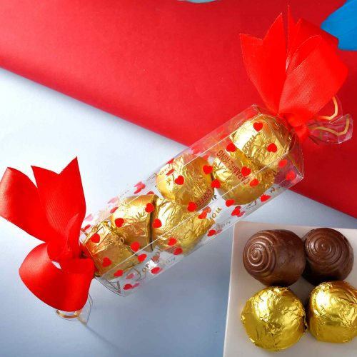 Handmade Assorted chocolate Box (75 Gms){Hazelnuts Almond Fudge, Coffe Bites, Almond Supreme, Carmel King}