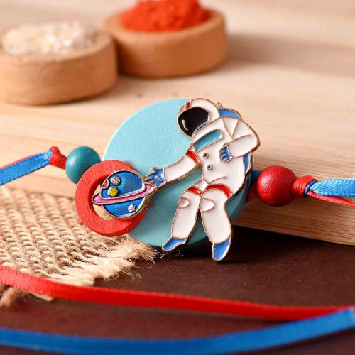 Astronaut Kids Cartoon Rakhi