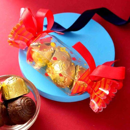 Handmade Assorted chocolate Box (50 Gms){Hazelnuts Almond Fudge, Coffe Bites, Almond Supreme, Carmel King}