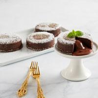 Gluten-Free Chocolate Truffle Lava Cakes