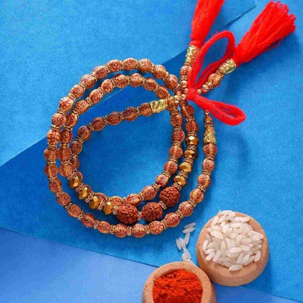 All Rudraksha-Studded Rakhi