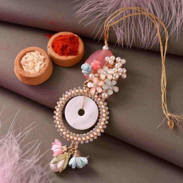 Floral surprise Lumaba rakhi set