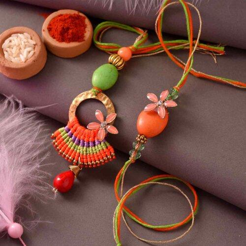 Glistening Lumba Rakhi Set