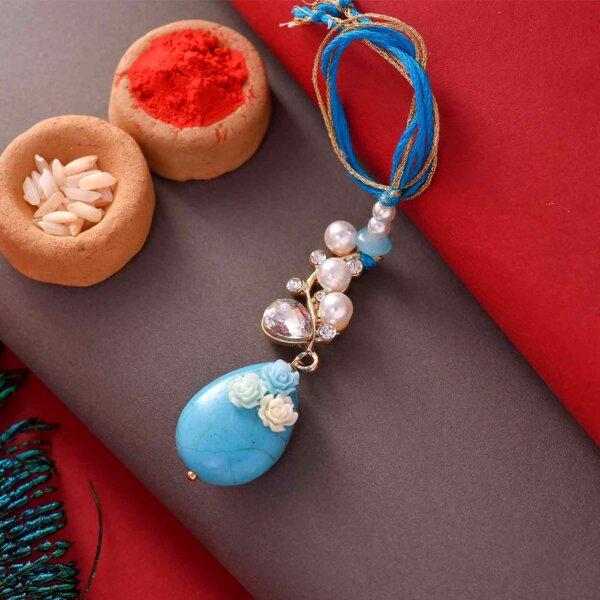 Pearl and Bhati Stone Lumba and Rakhi