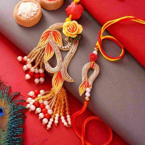 Color of Dawn Rakhi Lumba Set