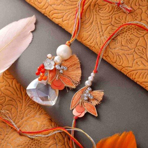 Trend and Tradition Rakhi Lumba Set