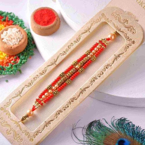 Traditional Pearl Rakhi