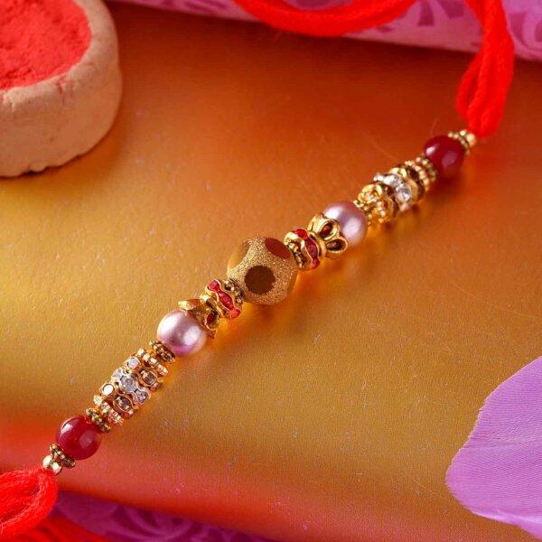 Multi-Color Pearl Rakhi