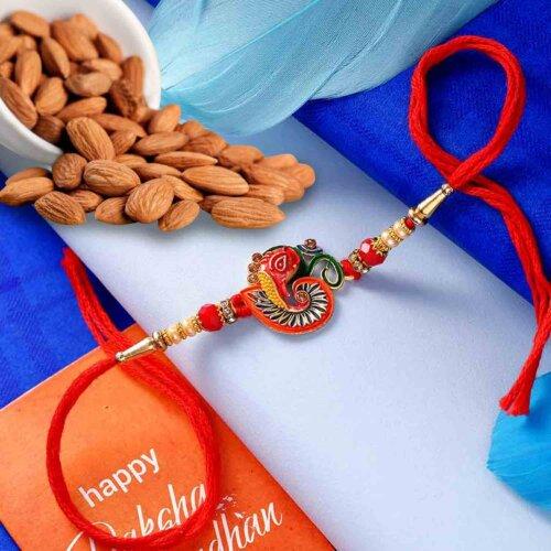 Ganesha Rakhi with Natural Almonds 113 Gms