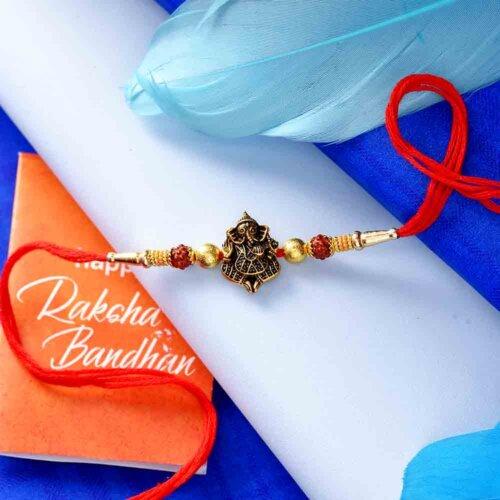 Rudraksh Ganesha Rakhi