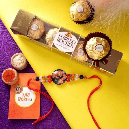 Spiderman Kids Rakhi with Ferrero Rocher