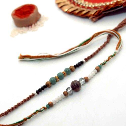 Exotic Stones Rakhi - Pack of 2