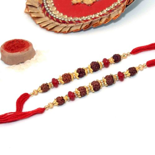 Rudraksha-Studded Rakhi - Pack of 2