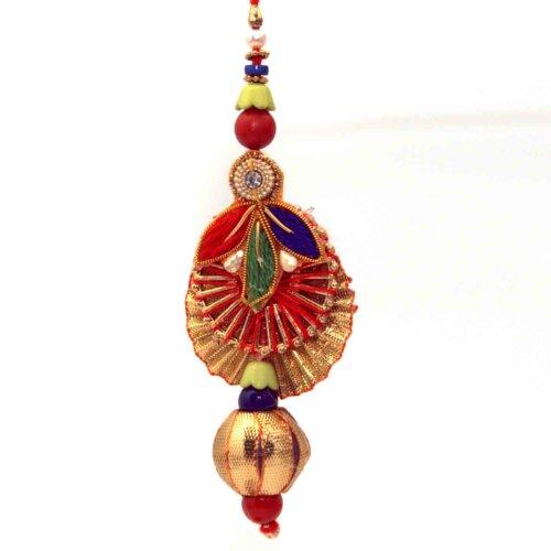 Combo of Colorful Diya-Style Bhai-Bhabhi Rakhi
