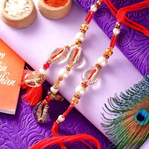 Metallic Shell Style Bhai-Bhabhi Rakhi