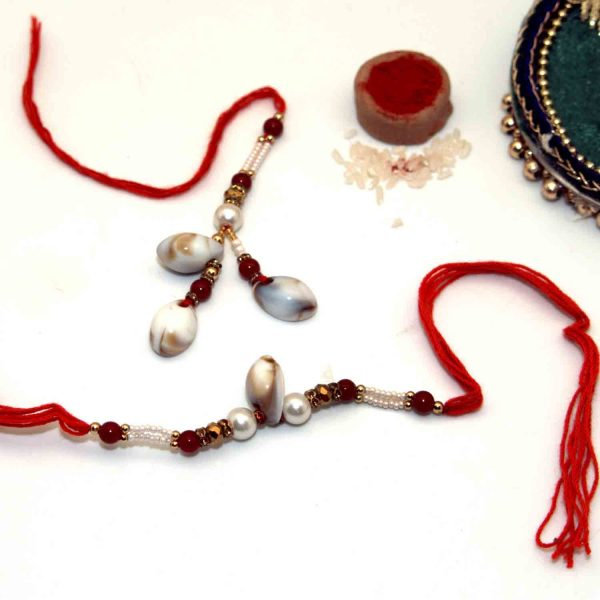 Combo of Traditional Shankha Bhai-Bhabhi Rakhi