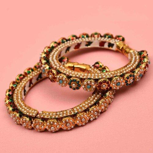 Set of 2 Rajasthani Pure Meena Kada