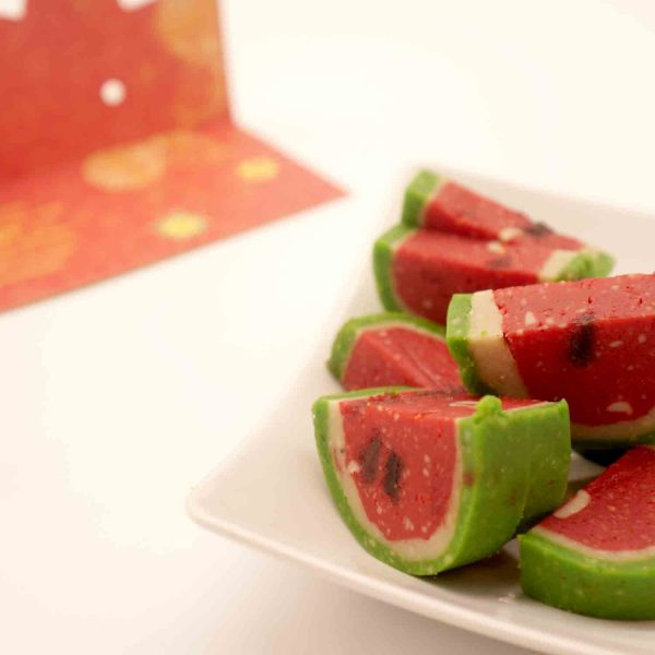My Brother's Set of 2  Rakhi with Natural Almonds 113 Gms and  Pure Kaju Sweet Water melon 450 Gms