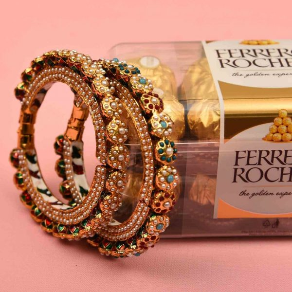 A set of 2 Pure Meena Kada with 12 pcs. Ferrero Rocher