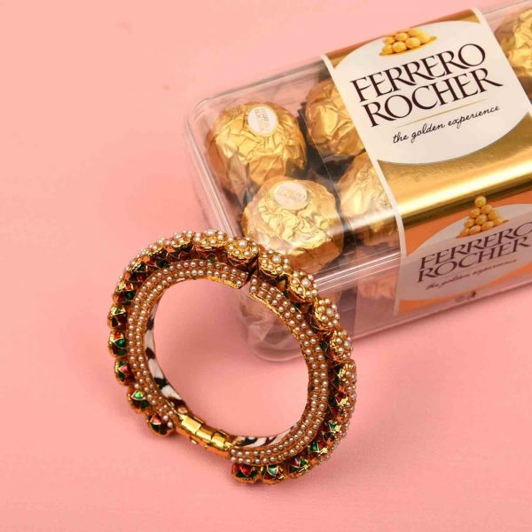 Pure Meena Kada with 12 pcs. Ferrero Rocher