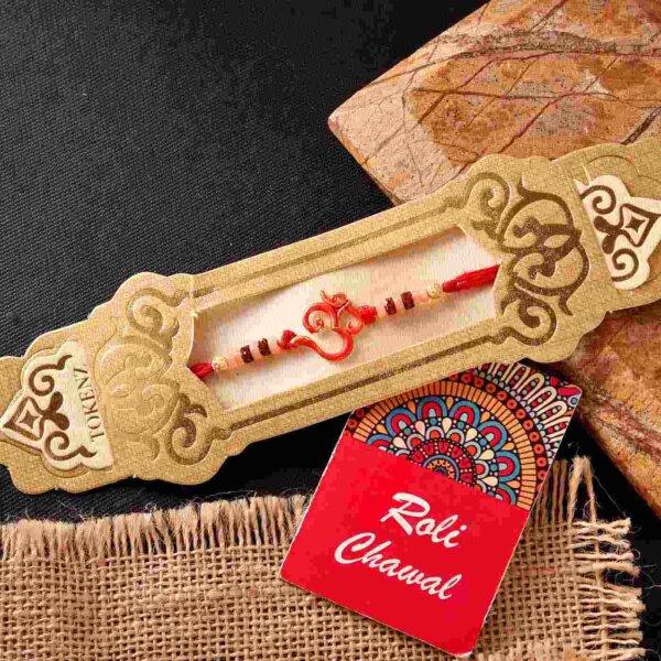 Antique Om rakhi & Yardley Gentleman Compact Perfume Combo