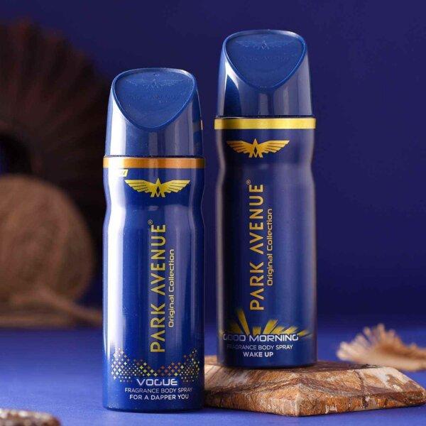 Set of 2 Om Beads Rakhi & Park Avenue Fragrance Body Spray Hamper
