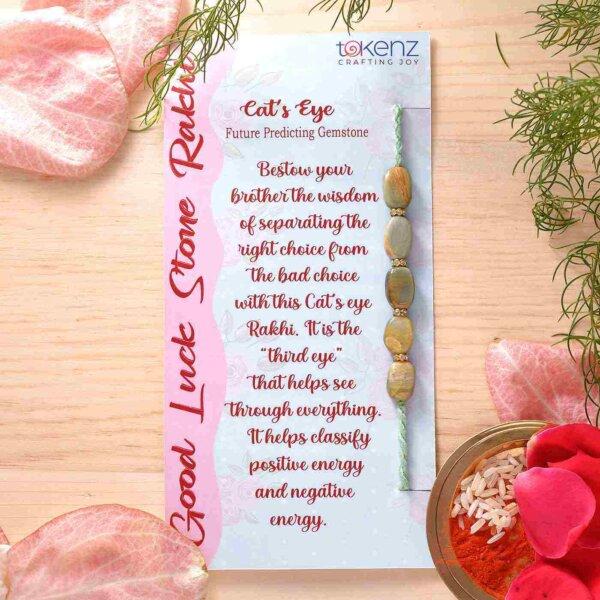 Cat's Eye Semi Precious Stone Rakhi