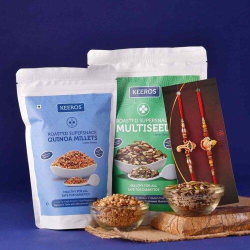 Taste of health rakhi gift basket
